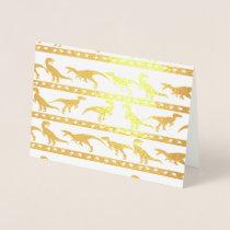 Gold Raptor Pattern Foil Card