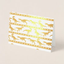 Gold Raptor Pattern Foil Card