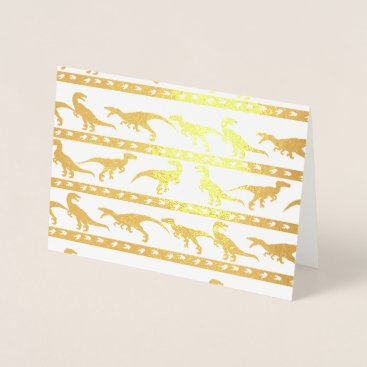 Beach Themed Gold Raptor Pattern Foil Card