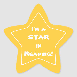Gold Reading Star Student Star Sticker