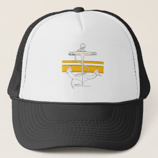 gold rear admiral, tony fernandes trucker hat