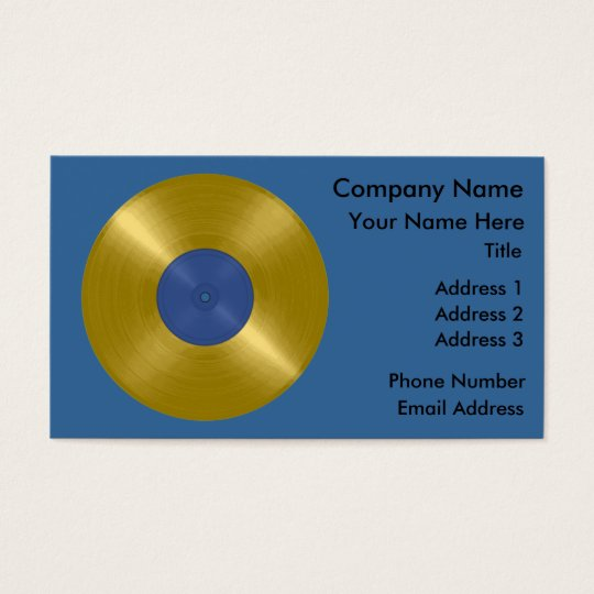 Gold Record Album Business Card