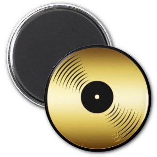 GOLD RECORD ALBUM 2 INCH ROUND MAGNET