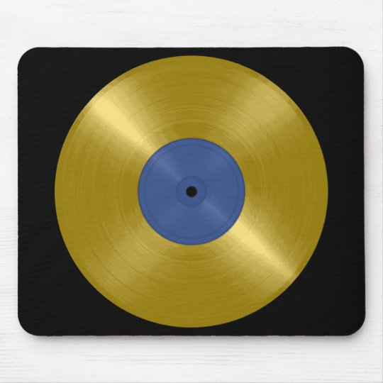 Gold Record Album Mouse Pad