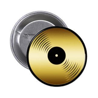 GOLD RECORD ALBUM PINBACK BUTTON