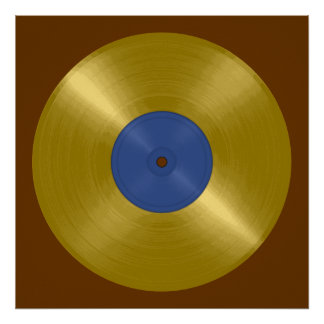 Gold Record Album Poster
