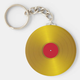Gold Record Keychain