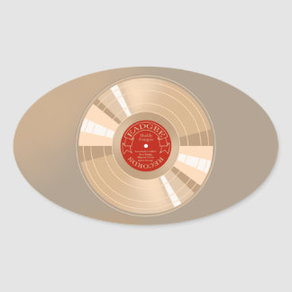 Gold Record Oval Sticker