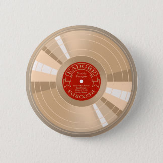 Gold Record Pinback Button