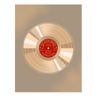 Gold Record Postcard