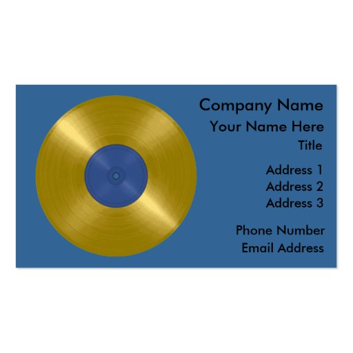 Gold Record with Blue Label Business Card