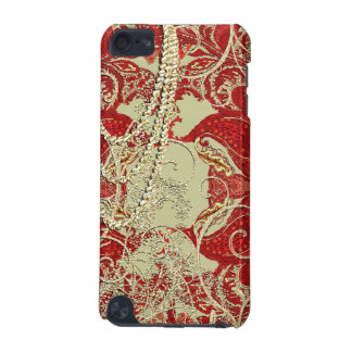 Gold Red and Burgundy Swirl iTouch Case