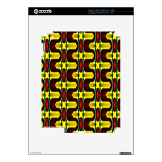 Gold Red Black Geometric Pattern Multi products iPad 2 Decals