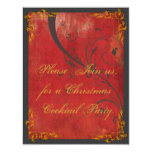 Gold & Red Christmas Party Invitation