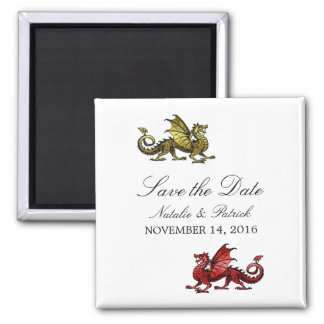 Gold Red Dragon Save the Date Magnet