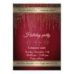 Gold red elegant corporate Christmas Invitation