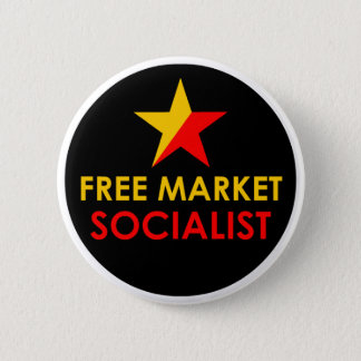 Gold/Red Free Market Socialist Button