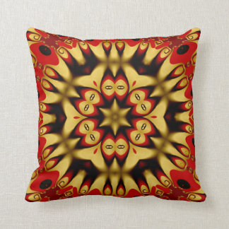 Gold+Red Geometry Energy Cushion / Pillow