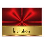 Gold Red Invitation Any Party Custom Invitation