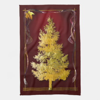 Gold & Red Kitchen Towel