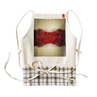 gold,red,metallic,modern,pattern,cool,elegant,chic zazzle HEART apron