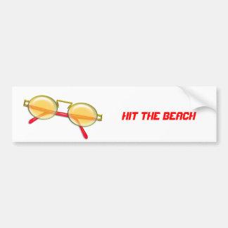 Gold & Red Wire Rim Sunglasses Bumper Sticker