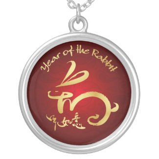 Gold / Red Year of the Rabbit - Chinese New Year necklace