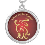 Gold / Red Year of the Rabbit - Chinese New Year Necklaces