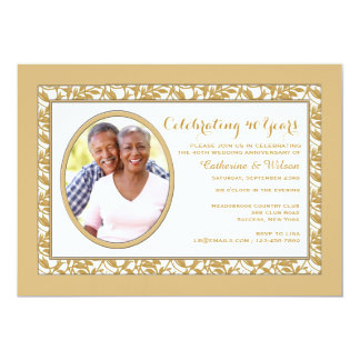 Gold Reflection Photo Invitation