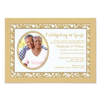 Gold Reflection Photo Invitation