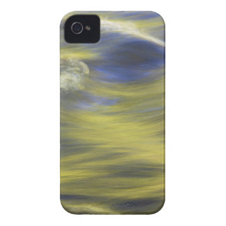Gold Reflections on Blue Water iPhone 4 Cover
