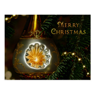Gold Reflector Christmas Ornament Postcards