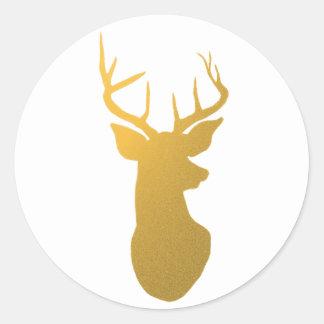 Reindeer Silhouette Stickers | Zazzle