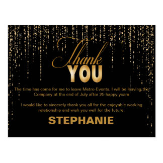 Gold Retirement Thank You Cards