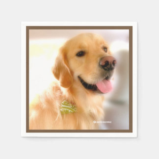Gold Retriever Henry's_World_Today Napkin