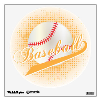 Gold Retro Baseball Style Wall Sticker