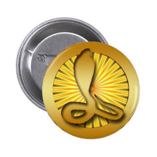 GOLD RETRO COBRA PIN