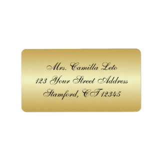 Gold Return Address Label