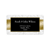 gold, return address label