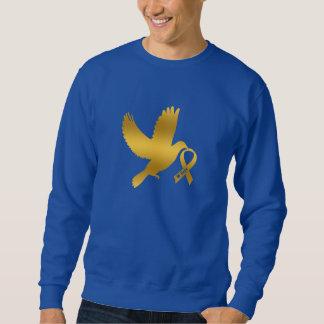 Gold Ribbon Childhood Cancer Dove of Hope Sweatshirt