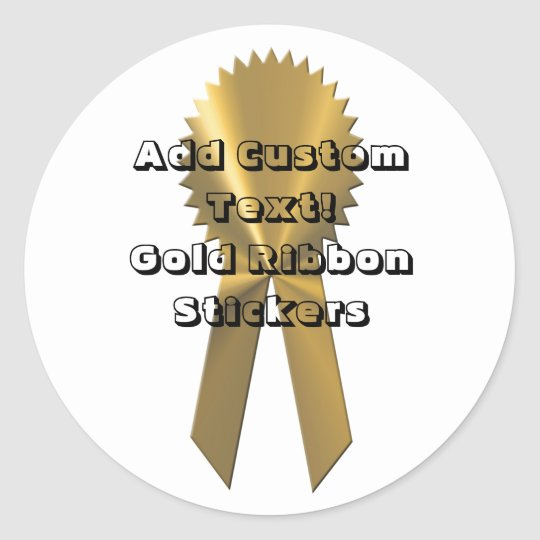 Gold Ribbon Custom Seals And Stickers