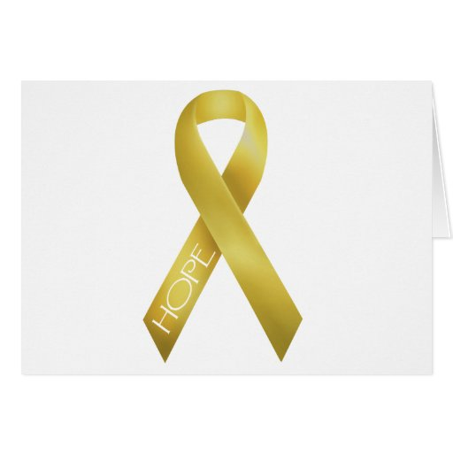 Gold Ribbon Greeting Card