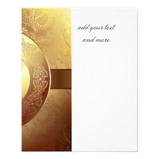 Gold,ribbon,lace,black,elegant,template,customise Flyer