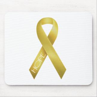 Gold Ribbon Mouse Pad