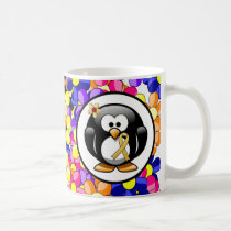 Gold Ribbon Penguin Coffee Mug