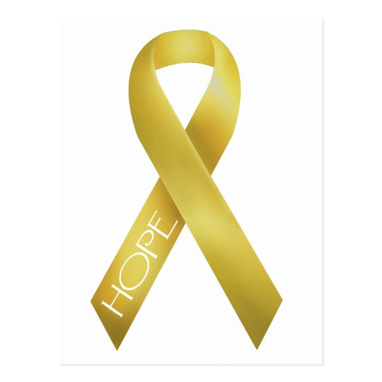 Gold Ribbon Postcard