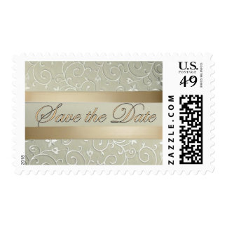 Gold Ribbon Save the Date Stamp
