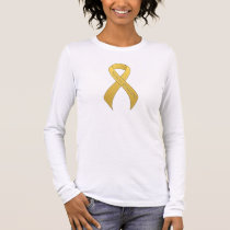 Gold Ribbon Support Awareness Long Sleeve T-Shirt