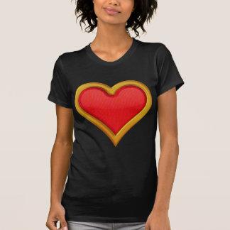 Gold Rimmed Heart T-Shirt