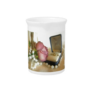 Gold Ring Drink Pitcher